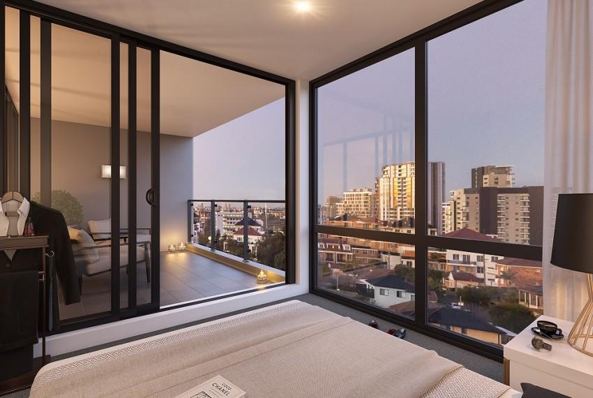 Park Lane - Bedroom & Balcony